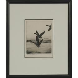 Frank Benson, etching