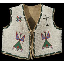Sioux Child's Beaded Vest