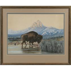 Walter L. Rice, watercolor