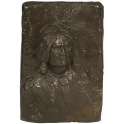 Edward Kemeys, bronze plaque