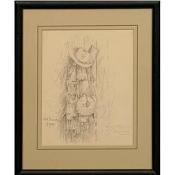 E.S. Paxson, pencil drawing