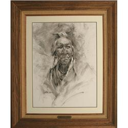 Harley Brown, charcoal