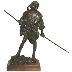 George Carlson, bronze sculpture