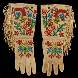 Plateau Indian Beaded Gauntlets