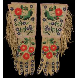 Wild West Show Beaded Gauntlets