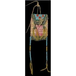 Blackfoot Quilled and Beaded Strike-a-Lite Bag