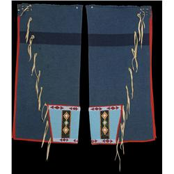 Blackfoot Men's Beaded Panel Leggins