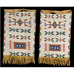 Pair of Sioux Beaded Dispatch Bags