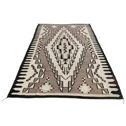 Navajo Weaving. Two Grey Hills Design