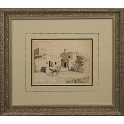 Edward Borein, etching and drypoint
