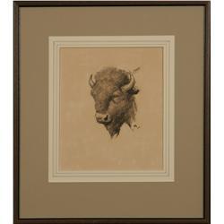 W.H.D. Koerner, charcoal