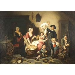After Jean-Baptiste Greuze (French, 1725-1805) The Homecoming, Oi