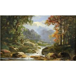 In the Manner of Albert Bierstadt (American, 1830-1902) Landscape