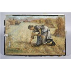 After Jean-Francois Millet (French, 1814-1875) Woman Working the