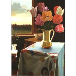 John A. Sayers (American, 1945- Present) Still Life with Tulips,