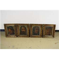 Plazido Four Portraits, Oil on Canvas,