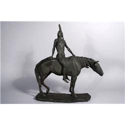 Charles Henry Humphriss (American, 1867-1934) The Warrior, Bronze