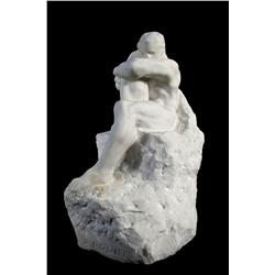 After Auguste Rodin (French, 1840-1917) Seated Figure of a Man, M
