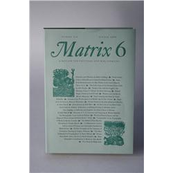 Matrix 6, A Review for Printers and Bibliophiles, Winter 1986, Nu