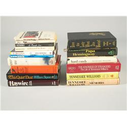 A collection of books by various authors,