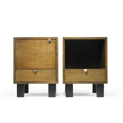 George Nelson & Associates pair of nightstands, models 4617 and 4618