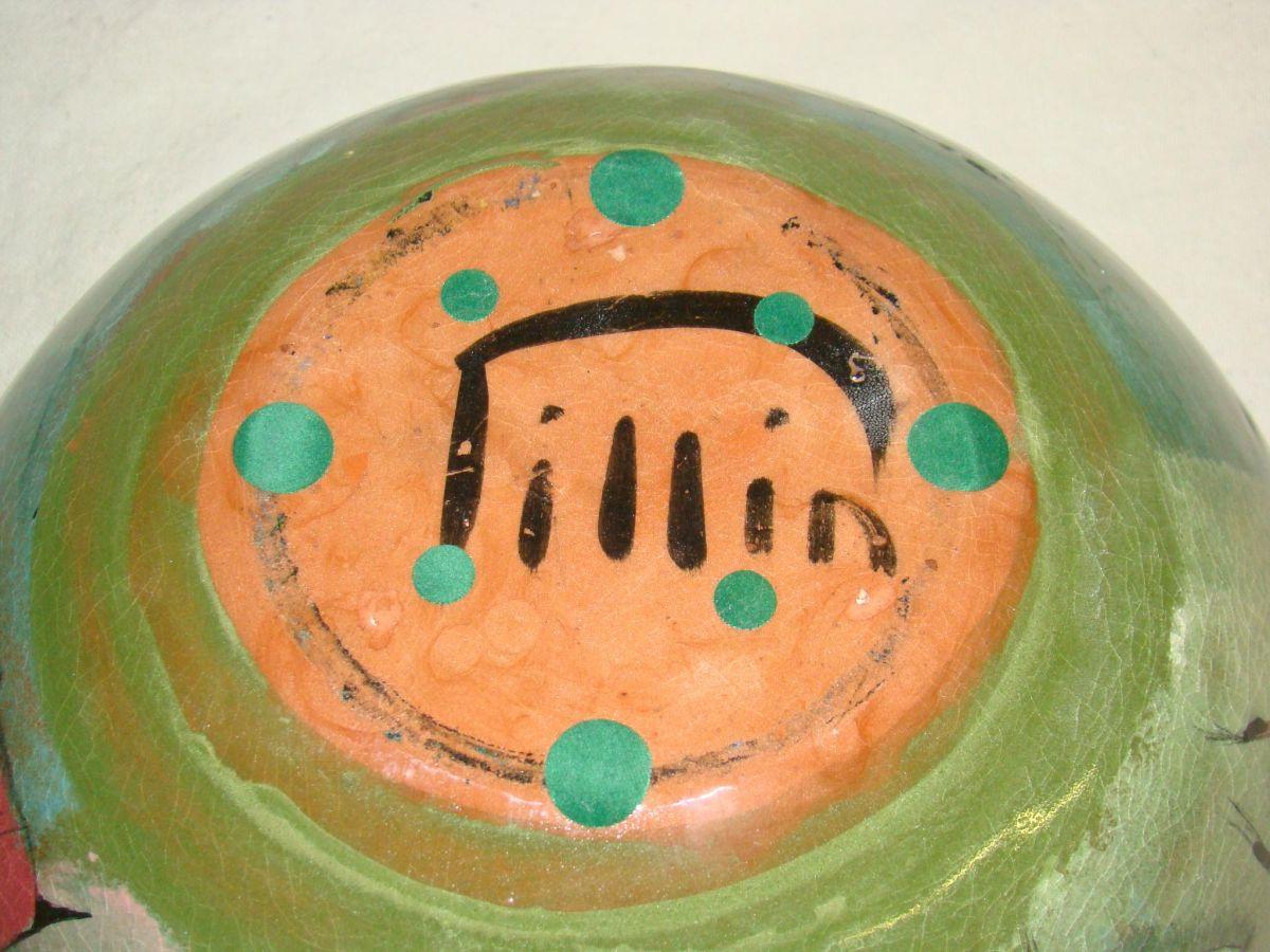 Large Polia Pillin Art Pottery Glazed Bowl