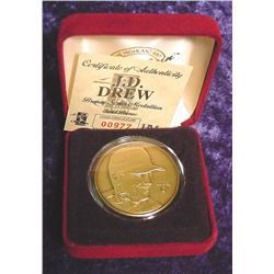 J.D. Drew Bronze Medallion in box