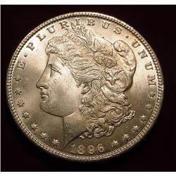 1896 P Morgan Silver Dollar. Gem BU 65