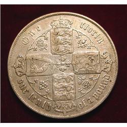1865 British Florin VF. Catalog $40.00