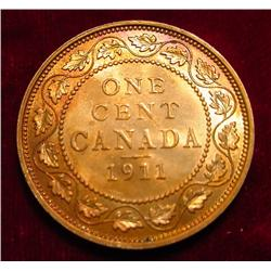 1911 Canada Large Cent. Ch BU 63 but side