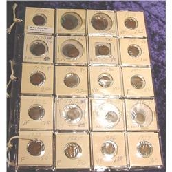 Lot of 40 Canada Small Cents 1920-50 grad