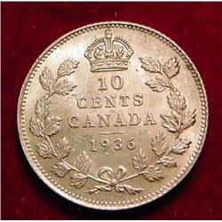 1936 Canada .10c Choice AU.