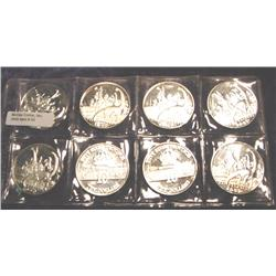 Lot of 8 Silver plated Copper 1993 Ch BU