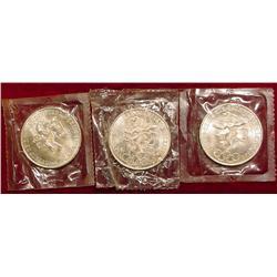 (3) Ch BU 1968 Mexico 25 Peso Olympic Si