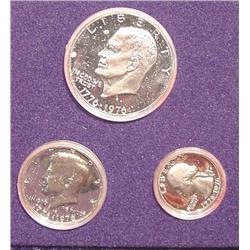 1976 S Silver U.S. Three Piece Proof Set