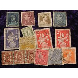 Collection of 15 Belize Stamps. Most are