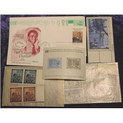 (10) UN Stamps, Paul Dunbar FDC, & .08c