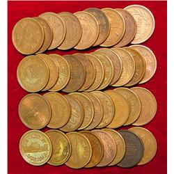 (37) Old Japanese Bronze or Copper Coins