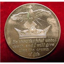 39mm Confirmation Medal. BU. Nickel Silver