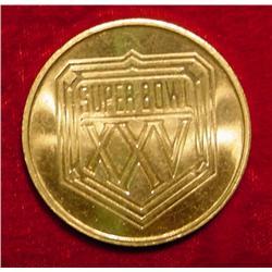 Super Bowl XXV 1991 Tampa Brass Medal