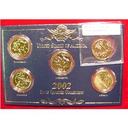 2002 24K Gold-plated State Quarter Set