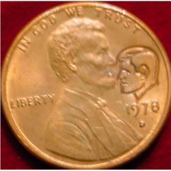 1978 D Lincoln Cent Countedstamped