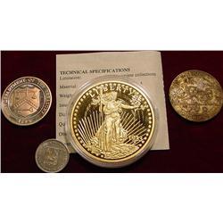 1965 Venezuela 25c; Mt. Rushmore Medal;