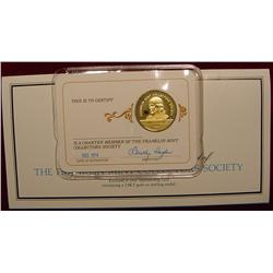 1974 Franklin Mint 24K Gold-plated Sterling