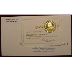 1970 Franklin Mint 24K Gold-plated Sterling