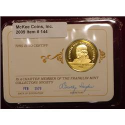 1979 Franklin Mint 24K Gold-plated Sterling