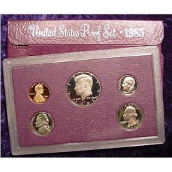 1985 S U.S. Proof Set. Original as issued.