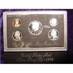 1998 S Silver U.S. Proof Set. Original as