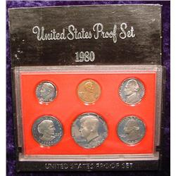 1980 S U.S. Proof Set. Original as issued.