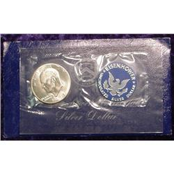 1971 S Eisenhower Silver BU Dollar.